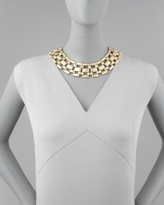 Panacea Lattice-Link Collar Necklace