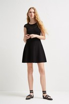 French Connection Rose Crepe Fit and Flare Dress