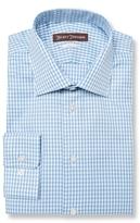 Hickey Freeman Classic Fit Checkered Cotton Dress Shirt