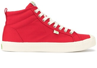 Cariuma OCA High Red Canvas Sneaker