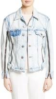 3.1 Phillip Lim Women's Zipper Detail Denim Jacket
