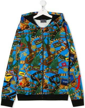Versace Rodeo printed hoodie