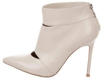 Gianvito Rossi Leather Cutout Ankle Boots