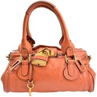 Chloé Paddington Orange Leather Handbags