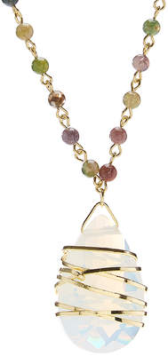 Siva Kwanli Women's Necklaces 18kt. - Moonstone & Jasper Hand-Wrapped Pendant Necklace