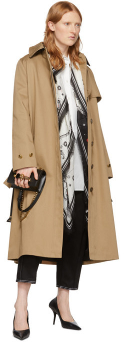 Thumbnail for your product : Alexander McQueen Off-White and Black Cosmos Shawl