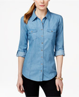 Style&Co. Style & Co. Denim Utility Shirt, Only at Macy's