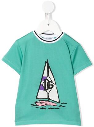 Dolce & Gabbana Kids boat print T-shirt
