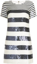 Veronica Beard sequinned striped dress - women - Silk/Polyester/Spandex/Elastane/Sequin - 2
