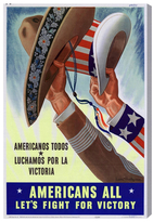 Oliver Gal Americans All (Canvas)