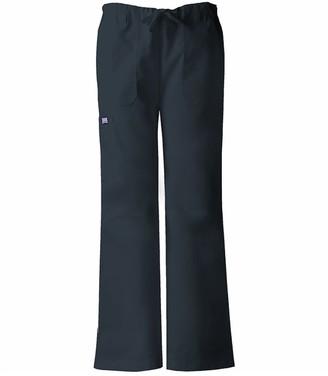 Cherokee Women's Workwear Scrubs Low Rise Draw String Cargo Pant (Size 2X-5X)