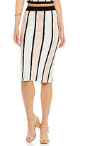 Gianni Bini Randall Striped Knit Skirt