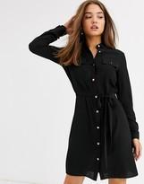 Lipsy button through shirt dress in khaki