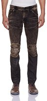G Star Men's 5620 3D Super Slim Fit Jean Knee Zip In Slander Black Superstretch Med Aged Cobler