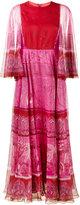Valentino printed wide sleeve dress - women - Silk/Spandex/Elastane - 42