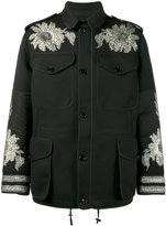Alexander McQueen sequin embroidered military jacket - men - Silk/Cotton/Polyamide/Viscose - 44