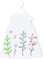 Simonetta embroidered flower dress - kids - Cotton/Polyamide/Spandex/Elastane - 6 mth