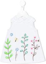 Simonetta embroidered flower dress - kids - Cotton/Polyamide/Spandex/Elastane - 9 mth