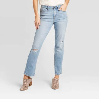 Universal Thread Women's High-Rise Straight Cropped Jeans - Universal ThreadͲ