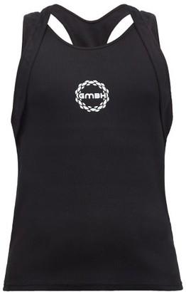 GmbH Multi-strap Logo-print Cotton-blend Tank Top - Black