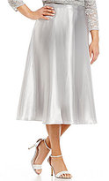 Alex Evenings Plus Charmeuse Tea-Length Skirt