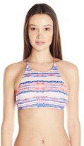 Roxy Women's Sea Stripe Halter Crop Bikini Top