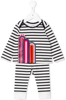 Burberry striped tracksuit set