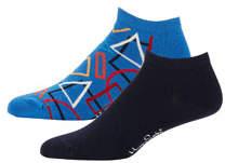Happy Socks Men's Geometric Low-Rise Socks, Set of 2