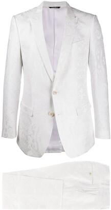 Dolce & Gabbana Jacquard Effect Tailored Suit