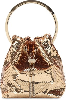 Jimmy Choo Bon Bon Sequined Bucket Bag