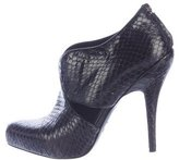 Christian Dior Python Pointed-Toe Booties