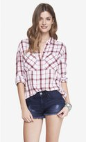 Express Oversized Plaid Shirt
