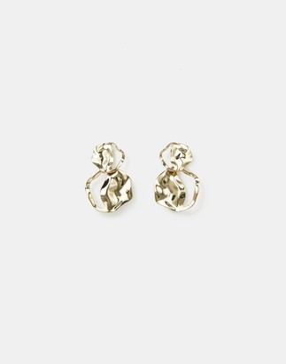 Lafayette 148 New York Sculptural Wave Stacked Disc Earring