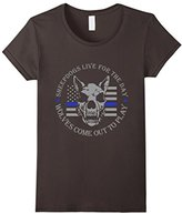 Special Tee Women's Sheepdogs Live For The Day Wolves Comeout To Play T-Shirt Large