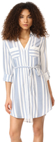 Cupcakes And Cashmere Steele Stripe Shirtdress