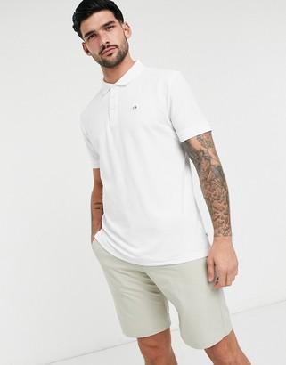 Calvin Klein Golf Midtown radical cotton polo in white
