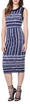 Rachel Roy Jewelneck Sleeveless Bodycon-Fit Dress