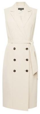 Dorothy Perkins Womens Beige Sleeveless Trench Dress, Beige