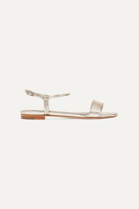 Tabitha Simmons Bungee Metallic Leather Sandals - Gold