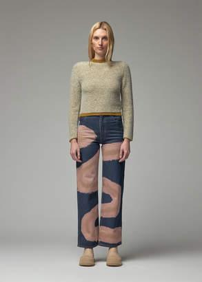 Eckhaus Latta Women's Clavicle Sweater in Pebble Lichen Size Small Baby Alpaca/Wool/Polyamide