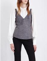Joseph Gloria sleeveless tweed top