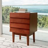 west elm Louvered Nightstand - Walnut