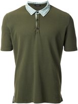 Roberto Collina 'Two-tone Military' polo shirt