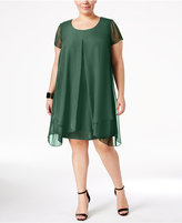 NY Collection Plus Size Layered Shift Dress