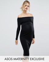 Asos Bardot Dress with Long Sleeve