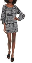 Trixxi Women's Bell Sleeve Shift Dress