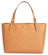Tory Burch 'York' Buckle Tote - Brown