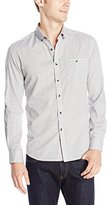 Kenneth Cole New York Kenneth Cole Men's Long Sleeve Heather Check Shirt