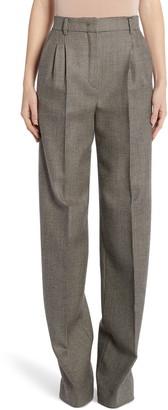 Fendi Pixel Pleated Wool Pants