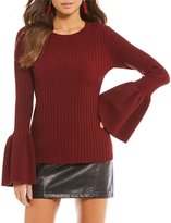 Gianni Bini Shelbi Ruffle Bell Sleeve Sweater